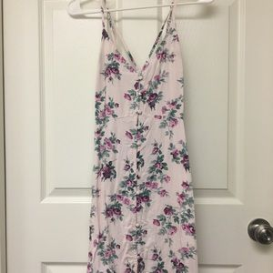 PINK FLORAL BUTTON-DOWN DRESS